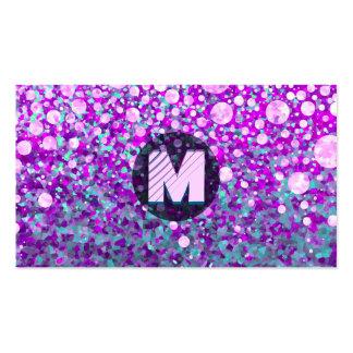 Monograma moderno cartão de visita