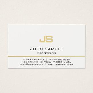 Monograma moderno profissional minimalista do ouro cartão de visitas
