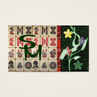 Monograma oriental cartão de visitas