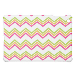 Monograma pern do verde formal do rosa do ziguezag capas para iPad mini