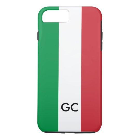 Monograma personalizado de Italia da bandeira Capa iPhone 7 Plus