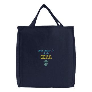 Monograma personalizado saco do bebê bordado bolsa