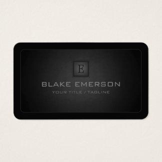 Monograma profissional escuro dos cantos cartão de visitas