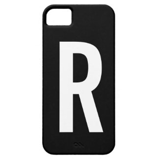 Monograma R Capa Barely There Para iPhone 5