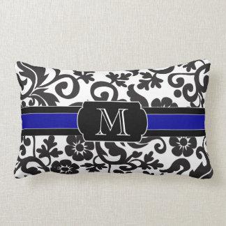 Monograma, travesseiro decorativo preto e branco,