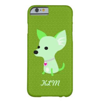 Monograma verde da chihuahua capa barely there para iPhone 6