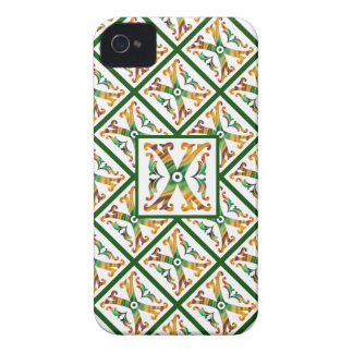 Monograma X inicial - decorativo & feminino Capinhas iPhone 4