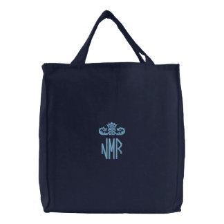 Monogramed bordou a bolsa do saco