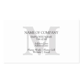 Monogrammed elegante clássico à moda do monograma cartão de visita