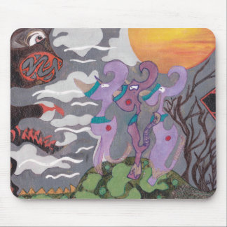 Monstro abstratos mouse pad