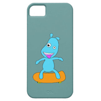 Monstro azul bonito capa barely there para iPhone 5