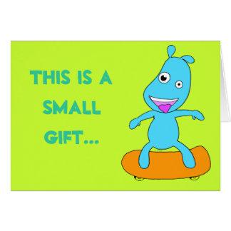 monstro azul bonito cartão comemorativo