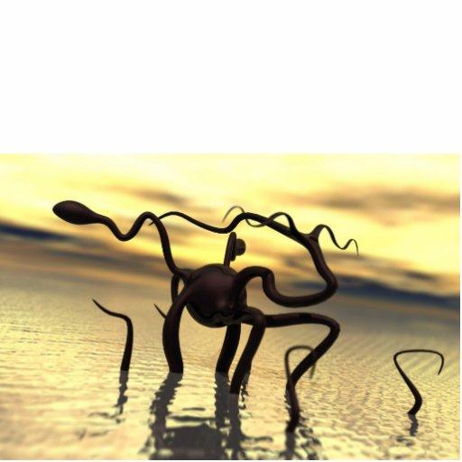 Monstro de Loch Ness! (monstro da água) Esculturafotos