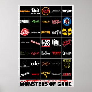 Monstro do poster de Grok Pôster