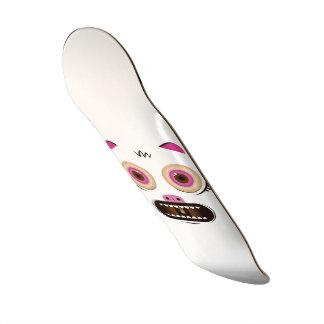 Monstro louco engraçado shape de skate 21,6cm