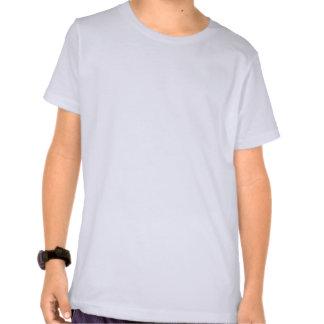 Monstro roxo feliz do arco-íris de 7 pés t-shirt