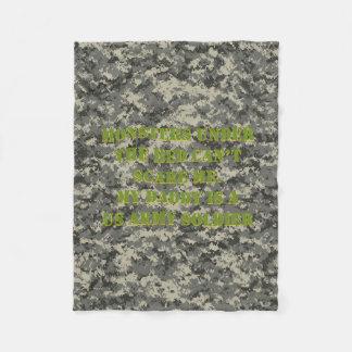 Monstro sob a cobertura do soldado da cama cobertor de lã