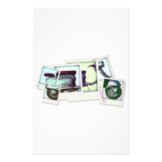 montagem da foto do lambretta papelaria
