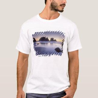 Montagem do caiaque do carregando do homem, praia tshirts