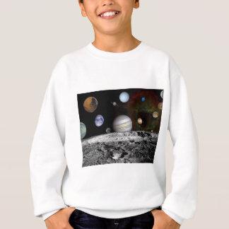 montagem do espaço t-shirt