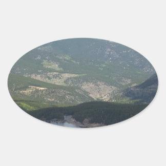 Montagem Evans, Colorado Adesivo Oval