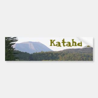 Montagem Katahdin do lago rainbow Adesivo De Para-choque