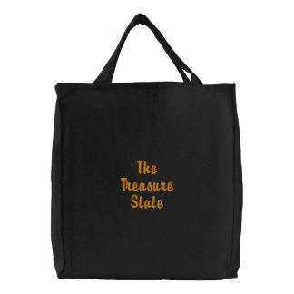 Montana bordou o saco bolsas de lona