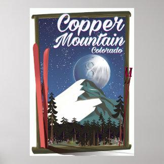 Montanha do cobre do poster de viagens de Colorado