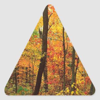 Montanhas apalaches carmesins da floresta adesivo em forma de triângulo