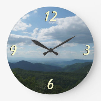 Montanhas apalaches II Shenandoah Relógio Grande