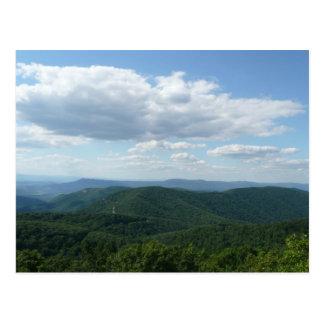 Montanhas apalaches mim cartão cartão postal