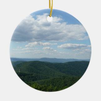 Montanhas apalaches mim parque nacional de ornamento de cerâmica redondo