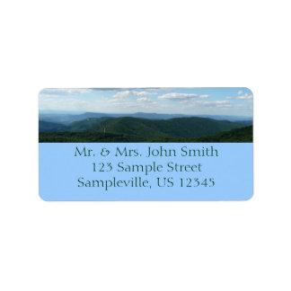 Montanhas apalaches mim Shenandoah Etiqueta De Endereço