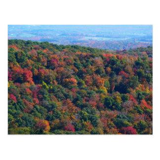 Montanhas apalaches na fotografia da natureza da cartão postal