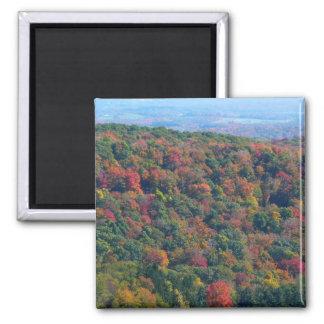 Montanhas apalaches na fotografia da natureza da ímã quadrado