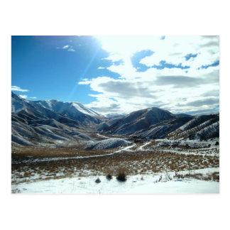 Montanhas de brilho cartão postal