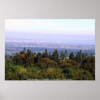 Montanhas de Dublin, paisagem de Ireland Poster