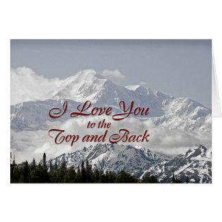 Montanhas do vintage: Eu te amo à parte superior e Cartão