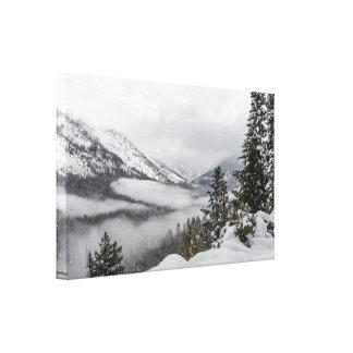 Montanhas nevado no impressão das canvas do