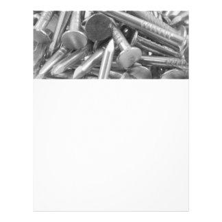 Montão das unhas da carpintaria flyer 21.59 x 27.94cm