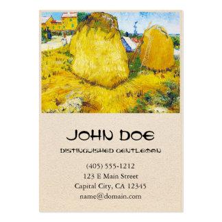 Monte de feno em Provence por Vincent van Gogh Cartão De Visita Grande