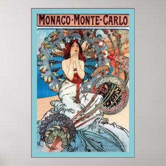 Monte de Monaco - Alphonse Mucha de Carlo Poster