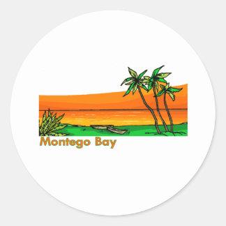 Montego Bay, Jamaica Adesivos Em Formato Redondos