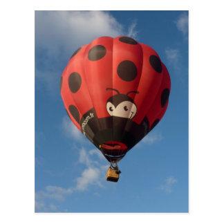 Montgolfiere - Hot air balloon - Coccinelle Cartão Postal