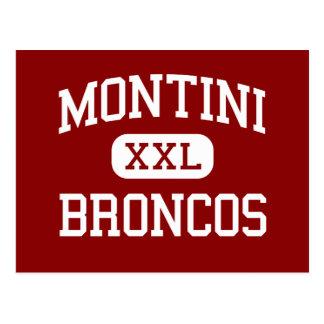 Montini - broncos - católico - Lombard Illinois Cartão Postal