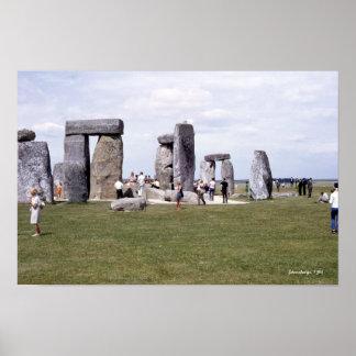 Monumento 1960 pré-histórico de Stonehenge Poster