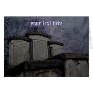 Monumento do cemitério fácil personalizar cartão