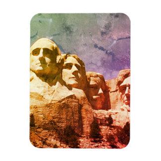 Monumento nacional 1974 do Monte Rushmore Foto Com Ímã Retangular