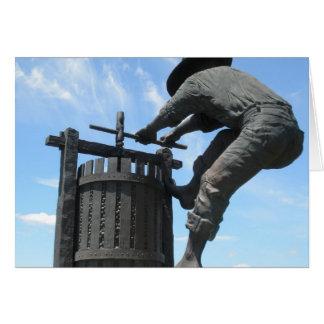 Monumento Napa Valley da imprensa de vinho Cartão Comemorativo