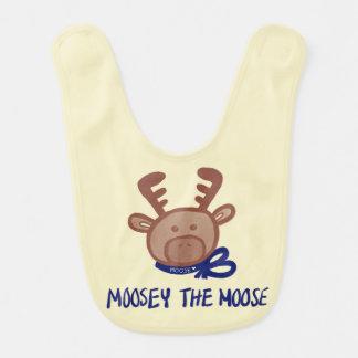 Moosey os alces - babador do bebê - linha de Keiki